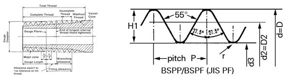 Profile cơ bản của ren BSP