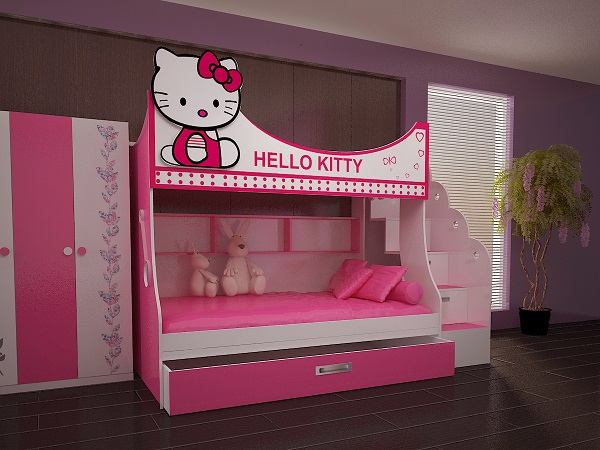 giuong tang meo hello kitty