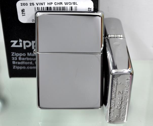 Zippo Vintage High Polished Chrome (No slashes)