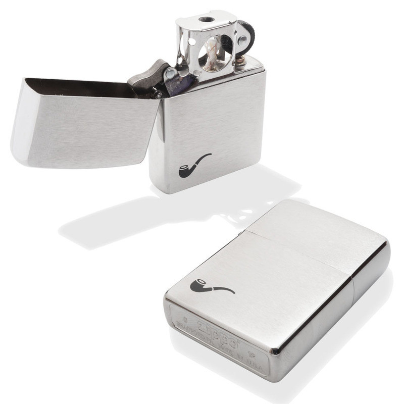 Zippo Brushed Chrome Pipe