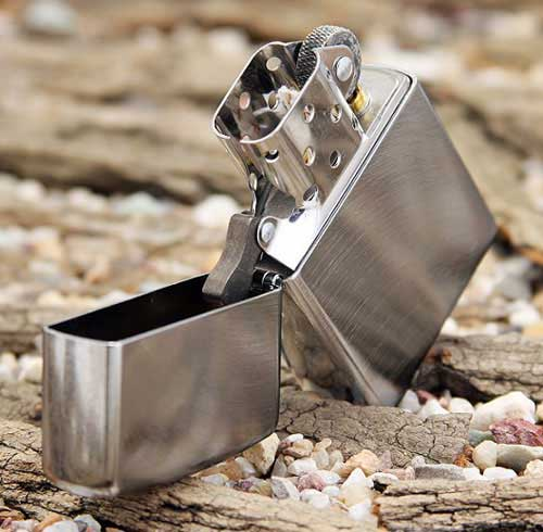 Zippo Chrome Arch Brushed Chrome