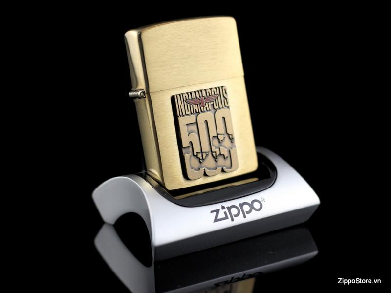 Zippo La Ma Solid Brass Indianapolis 500