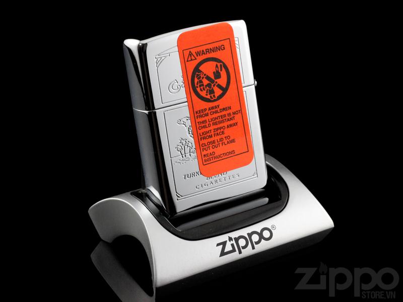 Hop quet Zippo dan tem do