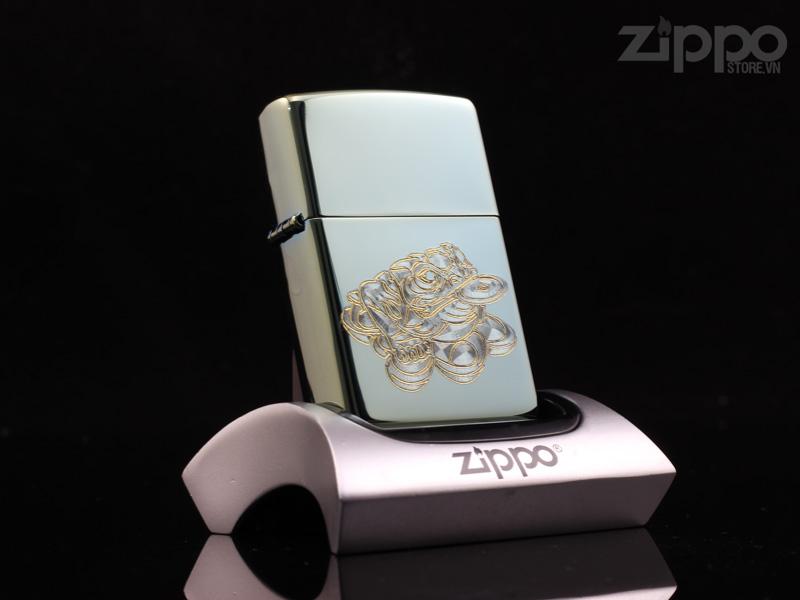 zippo phong thuy coc 3 chan