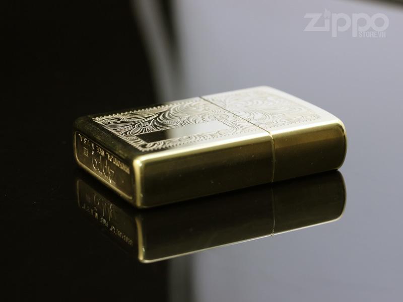 zippo viii 1992 venetian brass