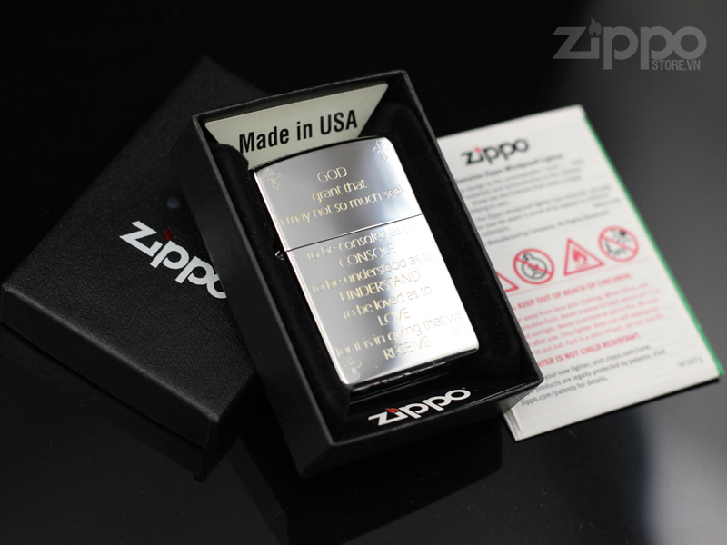 zippo kinh hoa binh new fullbox