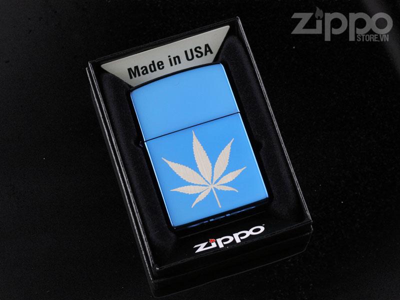 zippo usa chinh hang mau xanh duong