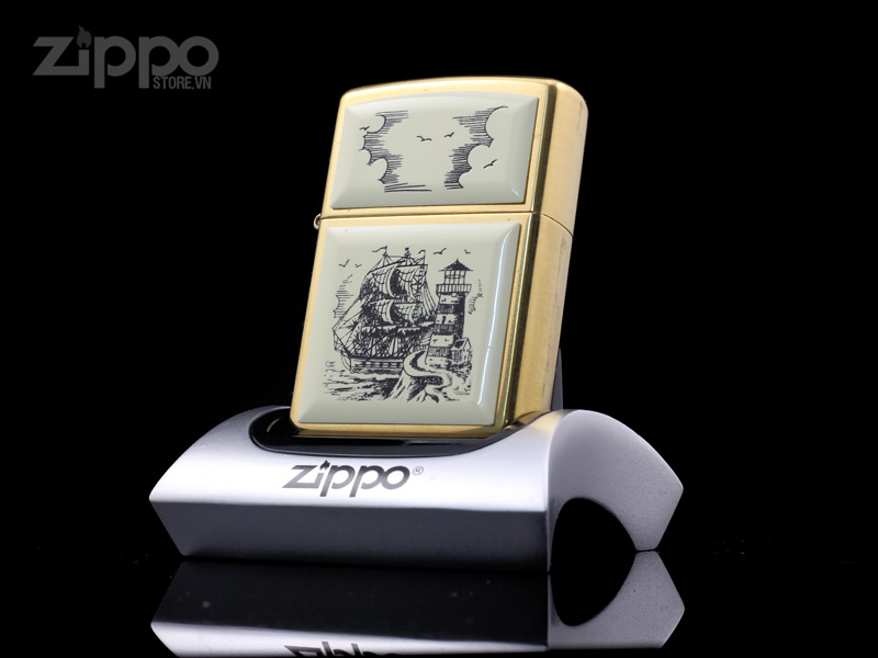 zippo_shrimshaw_ship_solid_brass_xiv