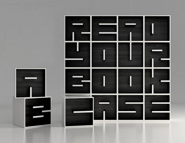 Viết chữ bằng kệ sách sáng tạo và độc đáo 5