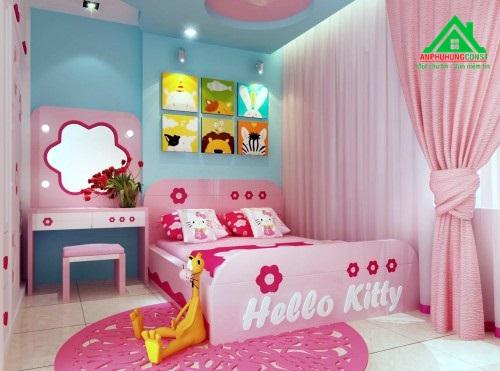 Phòng ngủ cho bé gái thứ hai.