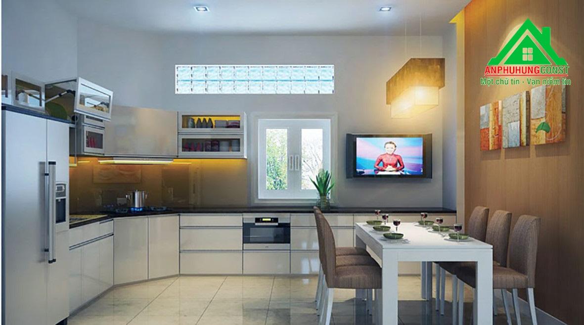 Phòng bếp và ăn có không gian thoáng đãng