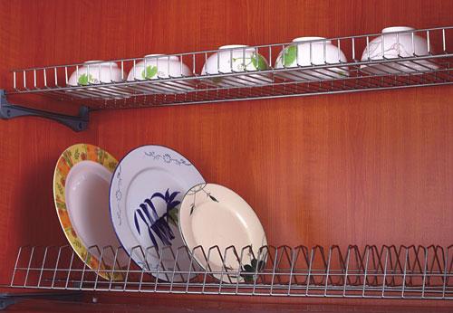 giá treo úp bát đĩa gecko inox 2 tầng