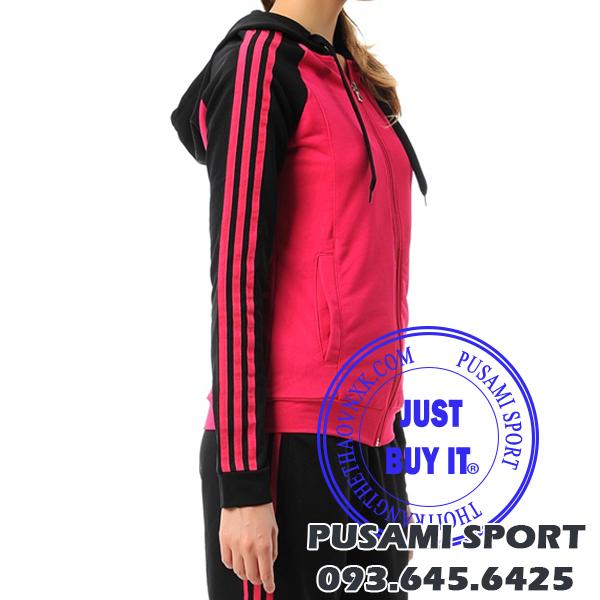 Áo khoác Adidas mũ liền chất nỉ M67642