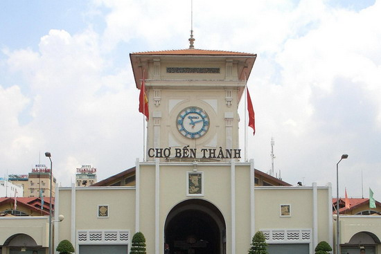 main gate in ben thanh market