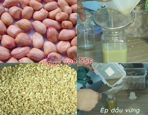 Máy ép dầu mè, đậu phộng