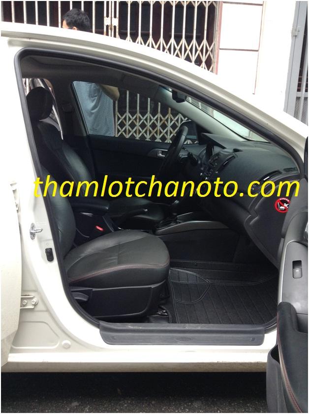 Th��m lót chân ô tô/ thảm lót sàn ô tô cho ghế phụ lái KIA FORTE
