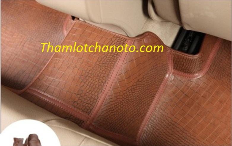 thảm lót sàn 4D 5D giả da cá sấu màu nâu