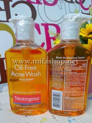 Sữa Rửa Mặt Neutrogena Oil-Free Acne Wash Trị Mụn Đầu Đen
