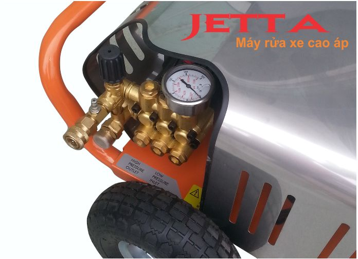 Máy rửa xe giá rẻ 3 KW, máy phun rửa áp lực JETTA