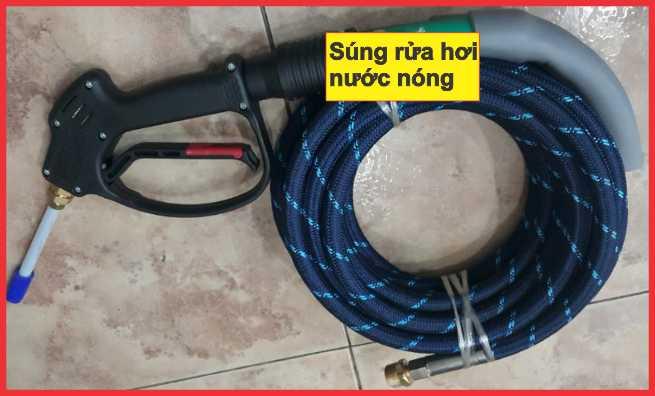 súng rửa xe bằng hơi nước nongs HK-24, phụ kiện dây rửa hơi nước nóng