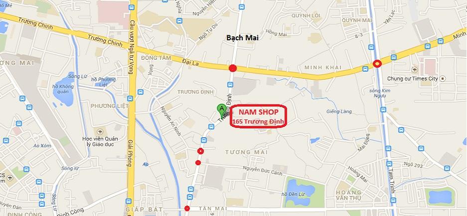 Bản đồ chỉ đường đến shop người lớn Hà Nội 165 Trương Định