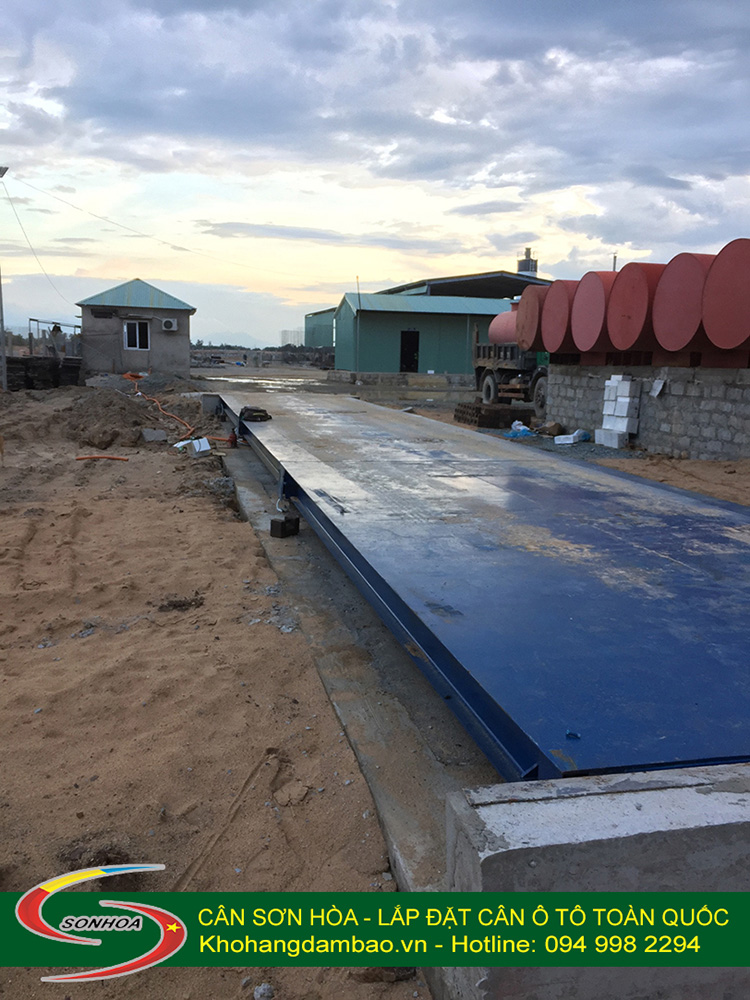 Toàn cảnh trạm cân ô tô bên Lào sau khi lắp đặt