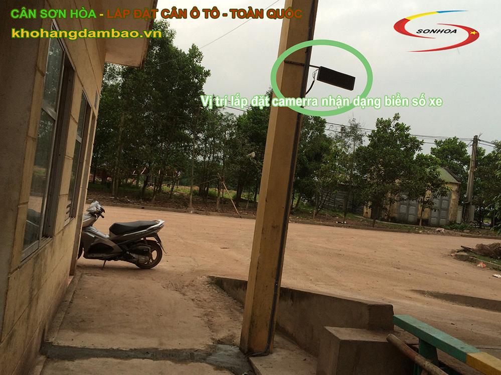 Vị trí lắp đặt camera nhận dạng biển số xe