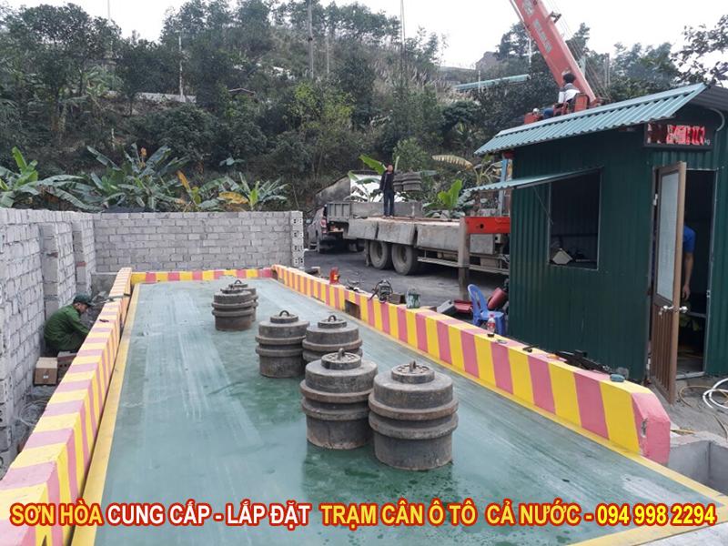 Cân ô tô điện tử 80 tấn Sơn Hòa