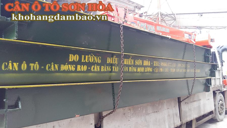 vận chuyển lắp đặt trạm cân ô tô 100 tấn ở tại Lào cai