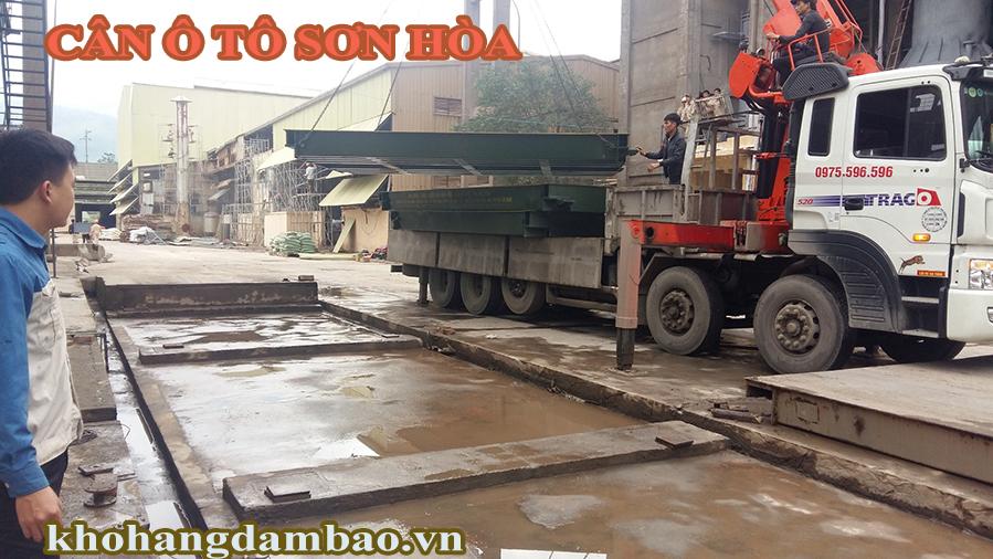 Lắp đặt bàn cân ô tô 100 tấn ở tại Lào cai