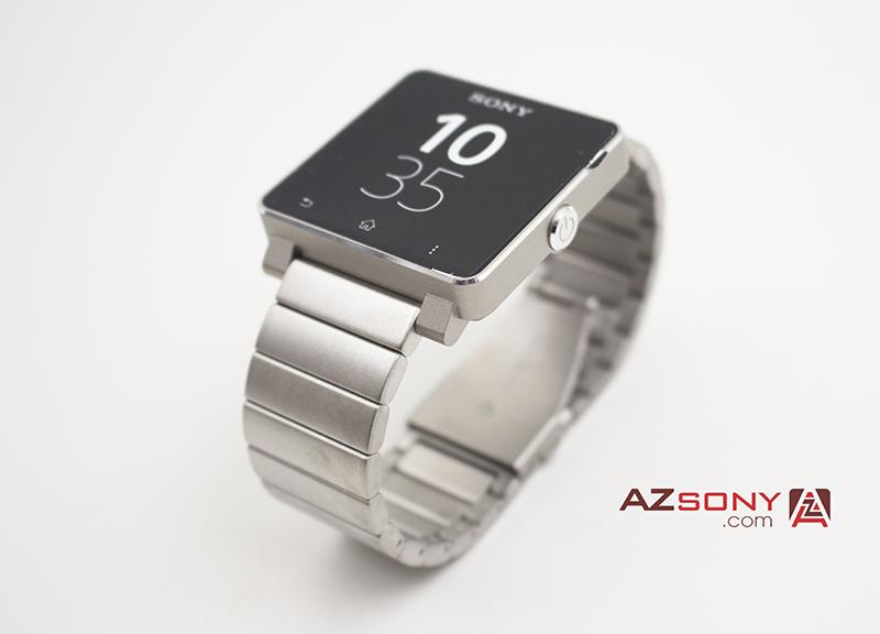 sony smart watch 2 dây sắt bạc