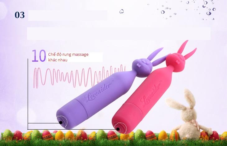Máy massage âm đạo đầu thỏ