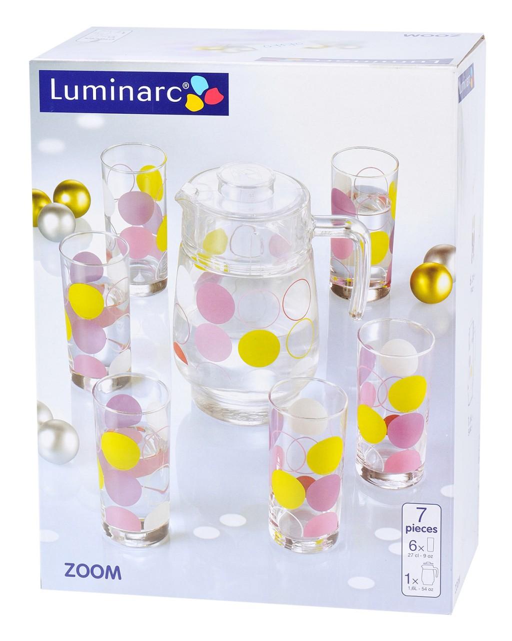 Bộ bình ly thuỷ tinh Luminarc Zoom G7170