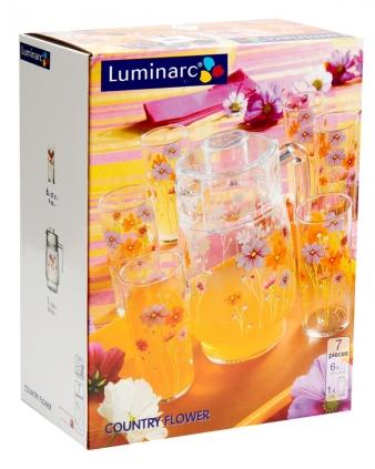 Bộ bình ly thuỷ tinh Luminarc Country Flower G1959