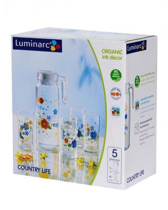Bộ bình ly thuỷ tinh Luminarc Rotterdam Country Life H7999