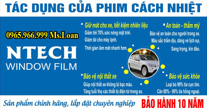 Dán Phim Cách Nhiệt NTech Xe Mercedes C200, C300