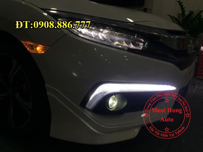 Độ Đèn Bi Gầm Cho Xe Civic 2016, 2017 01