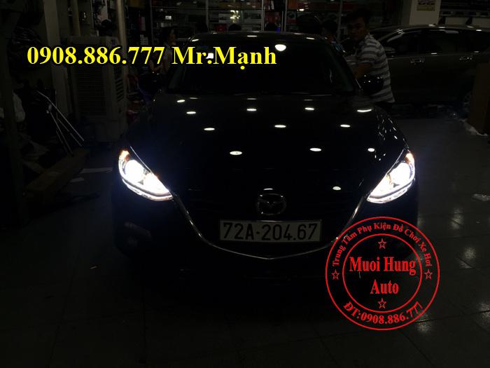 Độ Đèn Led Cho Xe Mazda 3 Uy Tín 02