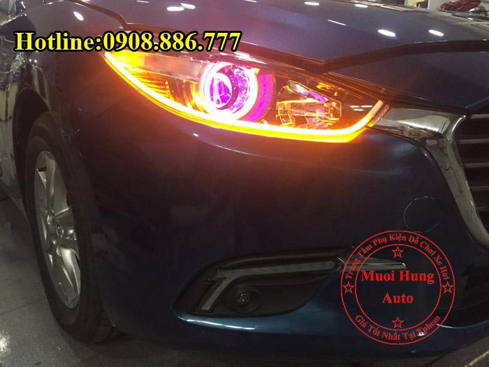 Độ Đèn Mắt Quỷ Cho Xe Mazda 3 2016, 2017 02
