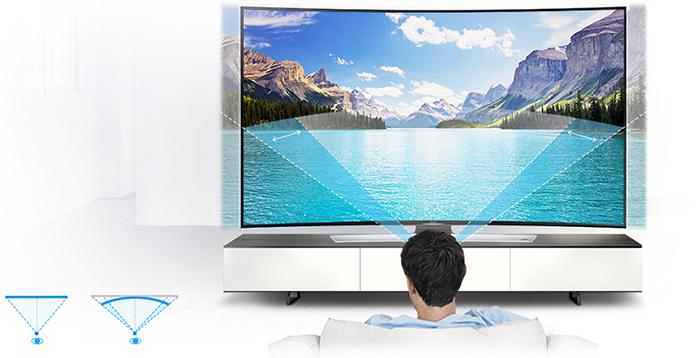 Samsung Curved 3D LED UA55HU9000K (4K TV) (Màn hình cong)