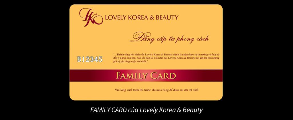 Thẻ thành viên của Lovely Korea & Beauty