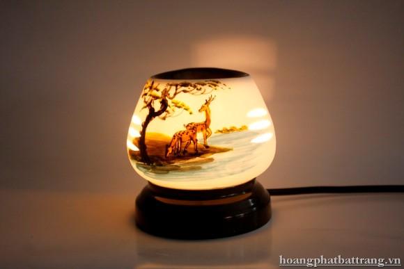 Đèn xông tinh dầu đôi hươu