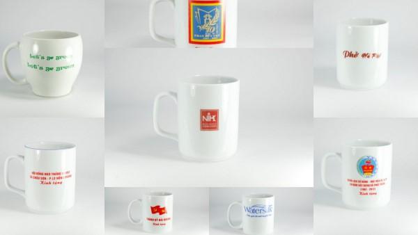 Cốc Bát Tràng in logo, cốc quà tặng, cốc in logo quảng cáo