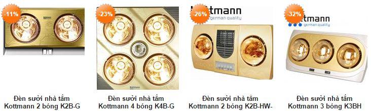 hình ảnh đèn sưởi nhà tắm Kottmann các loại giá tốt