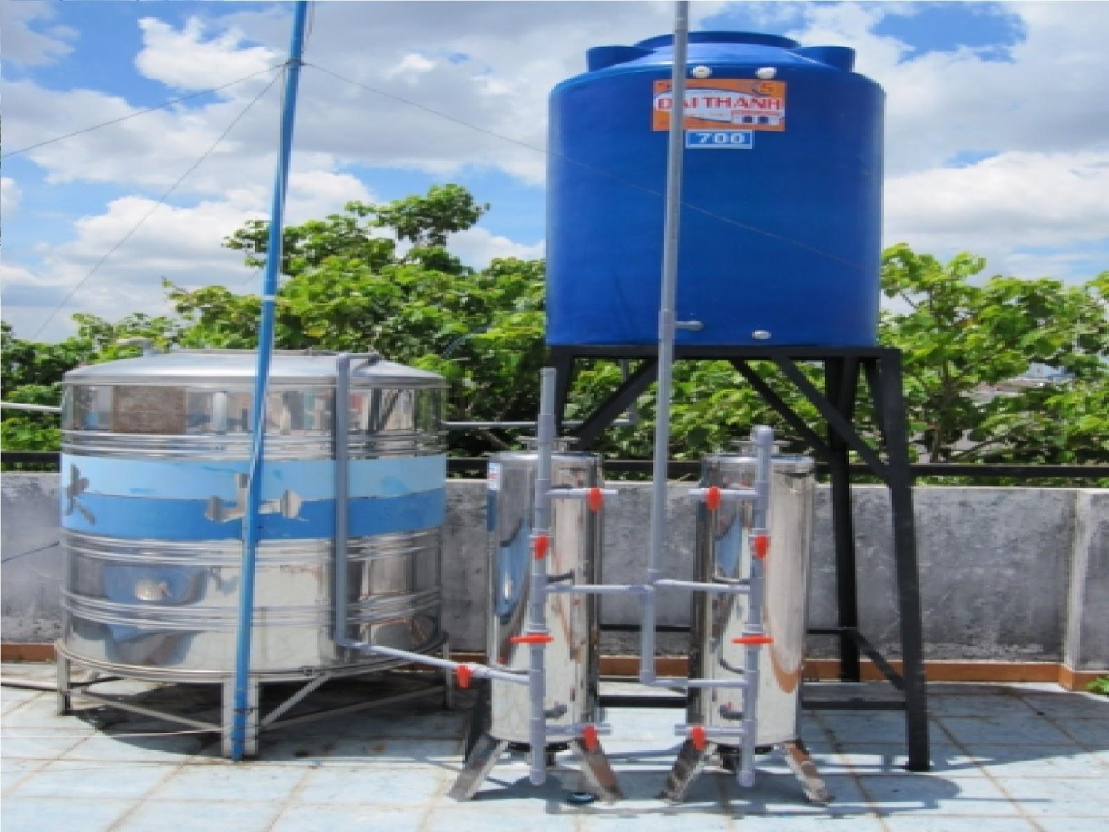 Hệ thống lọc nước giếng khoan 2 cột lọc chuyên dụng thay thế bể lọc