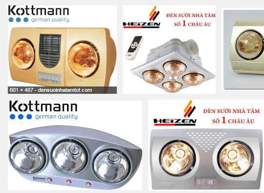 Kinh nghiệm mua đèn sưởi nhà tắm Kottmann, Heizen tốt nhất, phù hợp nhất