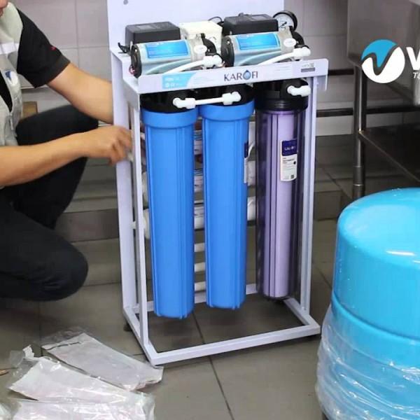 Lắp đặt máy lọc nước RO 50L/h cho công ty, xí nghiệp may mặc