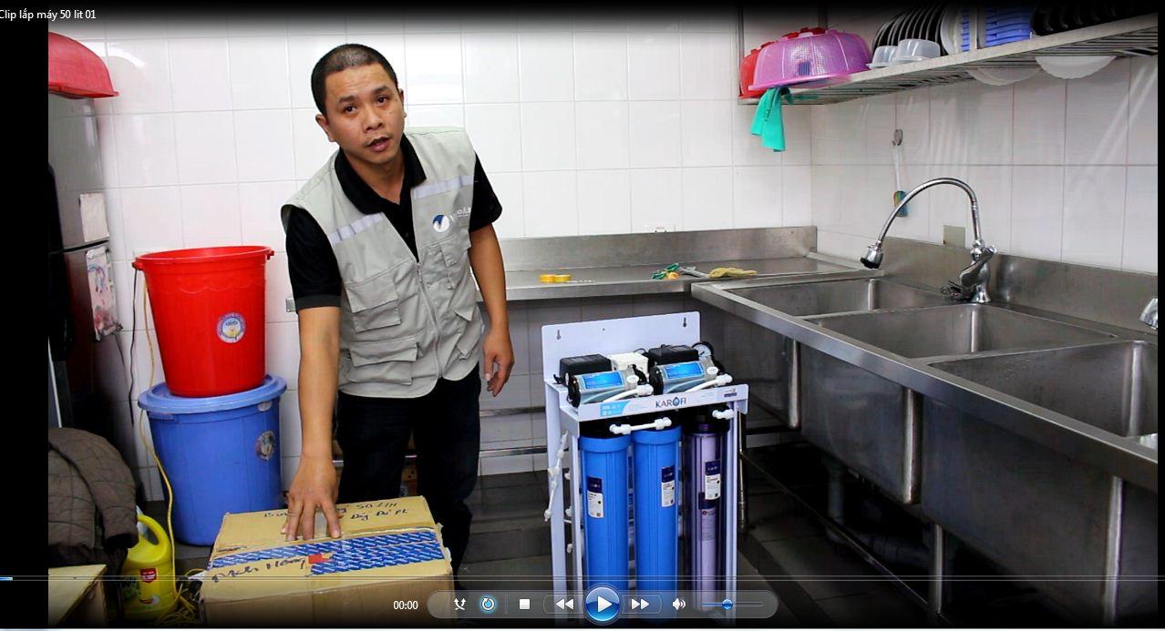Máy Lọc Nước 50L/h Cho Bếp Ăn Tập Thể Cơ Quan, Xí Nghiệp