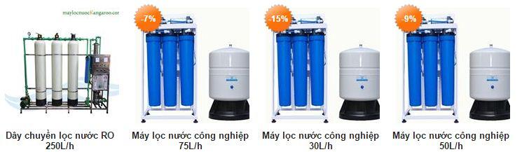 Một số máy lọc nước nhà hàng, khách sạn với công suất lọc khác nhau