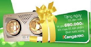Đèn sưởi nhà tắm Kangaroo - quà tặng chất lượng, giá trị cao